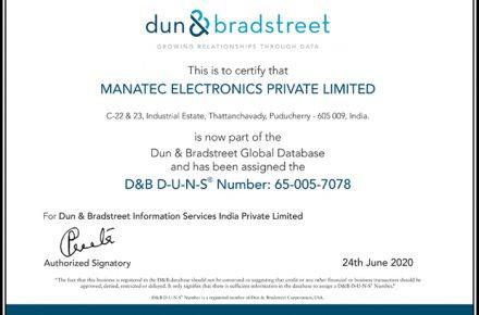 D&B Certificate 2020